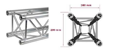 Americana – Square aluminium truss – Noleggio/Rental