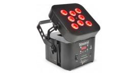 Wi-Par 8x 3W 3-in-1 LEDs Battery 2.4GHz DMX
