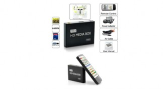 Mini tv media player lettore multimediale HD 1080P HDMI USB SD con telecomando