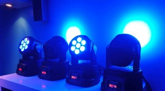 TESTE MOBILI BeamZ MHL74 Mini Moving Head Wash 7X 10W DMX 12-Channel Quad testa LED teste mobili