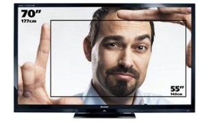 SHARP 70 pollici FULL HD 3D smart TV – noleggio rental