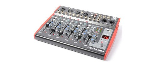 PDM-L605 Music Mixer 6-Channel MP3/ECHO