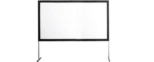 schermo proiezione fronte retro STUMPF VARIO 32 310×180 netto 300×170 16/9 noleggio/rental service video